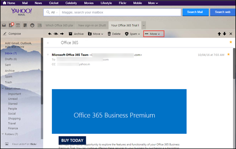 Yahoo Mail Header – Complete Analysis & View Forensic Artifact